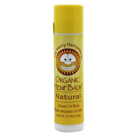 The Merry Hempsters - Organic Hemp Lip Balm Natural - 0.14 oz. Hemp Cinnamon Lip Balm