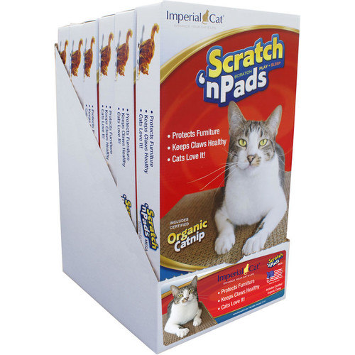 Imperial Cat Scratch 'n Shapes Scratch 'n Pad Recycled Paper Scratching Board