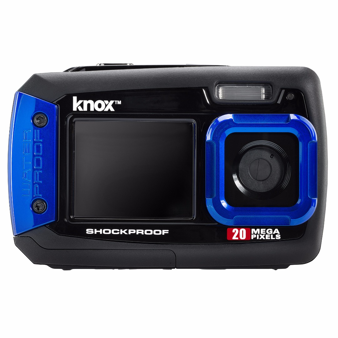 Knox Dual LCD Display 20MP Waterproof & Shockproof Digital Camera (Blue)