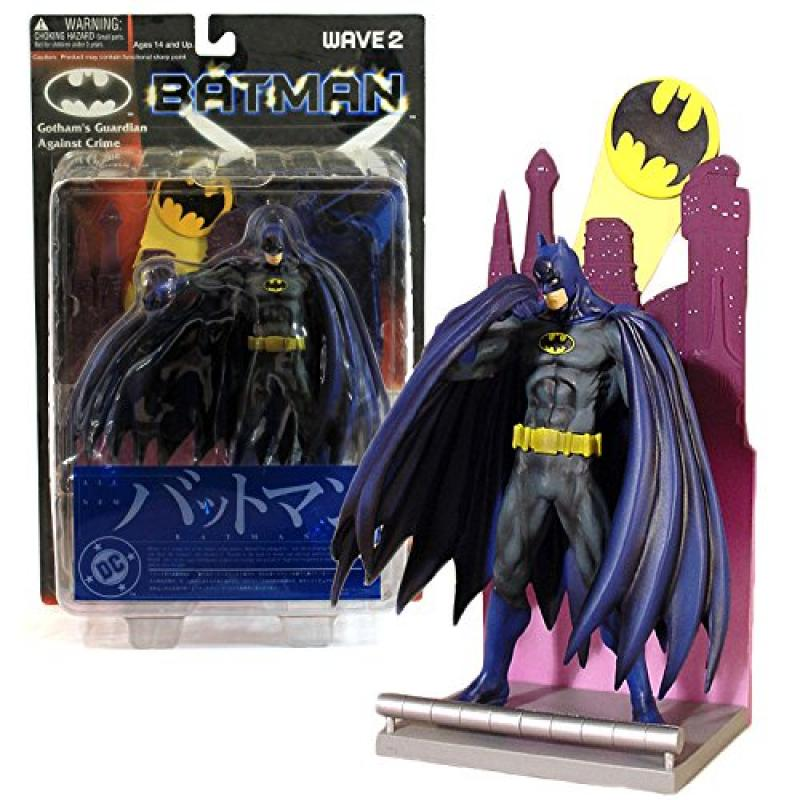 "Yamato DC Comics Wave 2 Batman ""Gotham's Guardian Against Crime"" Series 6 Inch Tall Action Figure - BATMAN with Exchangeable Right Hand and Cape Plus Spotlight Diorama Display Base"