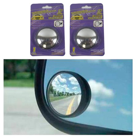 "2pc Universal 2"" Wide Angle Convex Rear Side View Blind Spot Mirror for Car Auto"
