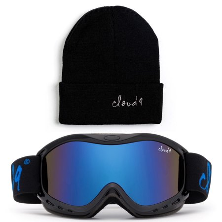 Cloud 9 - Kids Boys & Girls Professional SKi Goggles Anti-Fog UV400 Protection Wind Proof Dual Lens Triple Face Foam Winter Snow Goggles with Matching Color