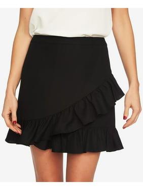 1. STATE Womens Black Ruffle Edge Mini Party Skirt  Size: 10