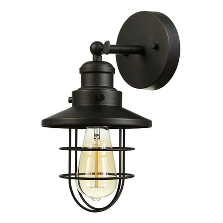 Globe Electric Beaufort 1-Light Dark Bronze Wall Sconce, (Best Globe Electric Globe Electric Friend Globes)
