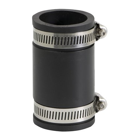 Pvc Inside Couplings (1 in. PVC Flexible Coupling with Stainless Steel clamps )