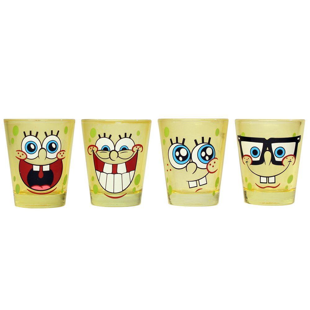 Nickelodeon Spongebob Squarepants 4-Piece Colored Shot Glass Set ...