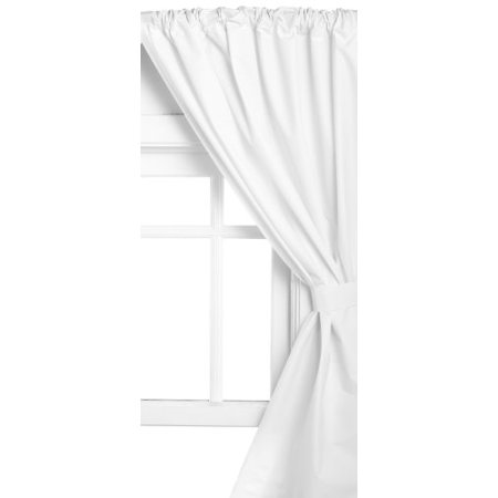 Carnation Home Fashions Vinyl Bathroom Window Curtain White