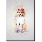 Dog Drawing Picture on Stretched Canvas, Wall Art Décor, Ready to Hang