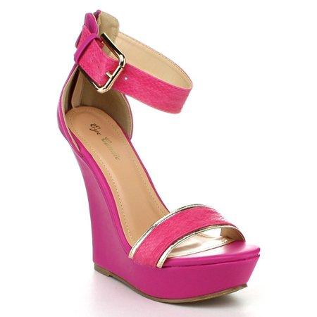 891f183c10d Fourever Funky - Platform Shoes Anklet Open Stiletto Rhinestones Pumps Pink  Women s Sandals - 6 - Walmart.com