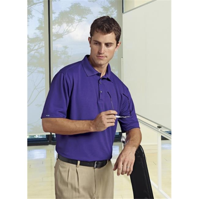 Bermuda Sands 766 Mens Matrix Short Sleeve Polo - Plum, Large