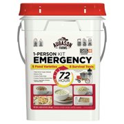 Augason Farms 72-Hour 1-Person Emergency Food Storage Kit with Survival Gear