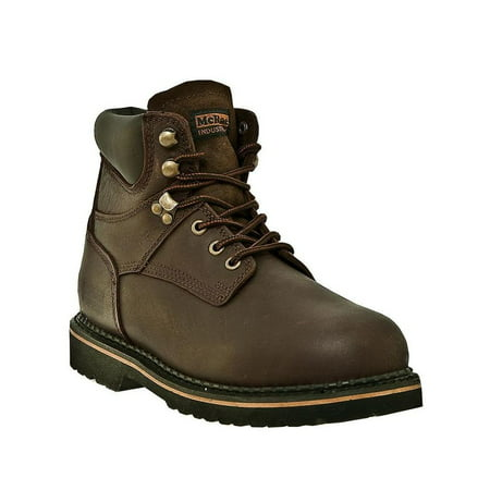 McRae Industrial Work Boots Mens Leather Lacer Dark Brown MR86144