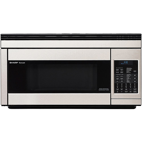 Sharp 1.1-cu ft Over-the-Range Convection Microwave Oven, Stainless Steel