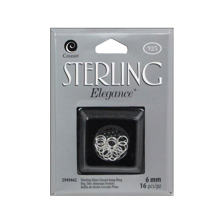 Cousin Sterling Elegance Closed Jump Ring 6mm 16pc
