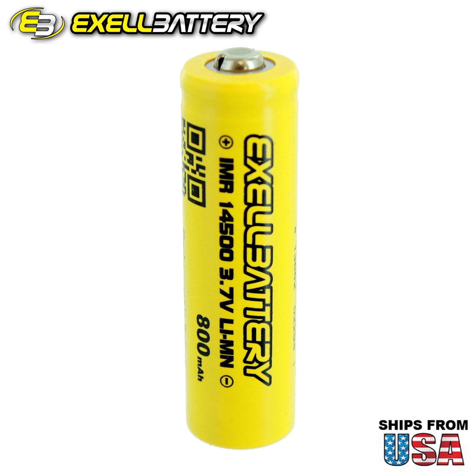 NEW IMR 14500 LiMN 800mAh Rechargeable High Drain ButtonTop Battery