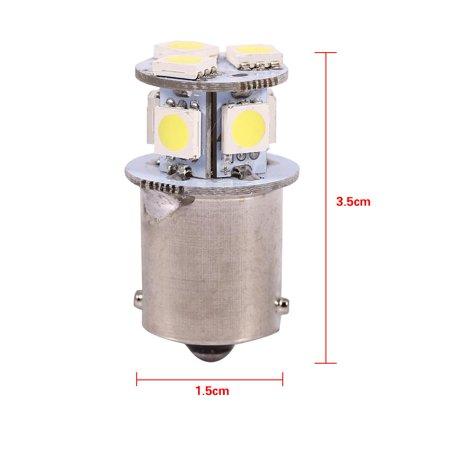 Ejoyous 2pcs White BA15S R5W 1156 5050 8SMD LED Car Brake Lights Bulbs ,  White Brake Light Bulb, 1156 Brake Light Bulb