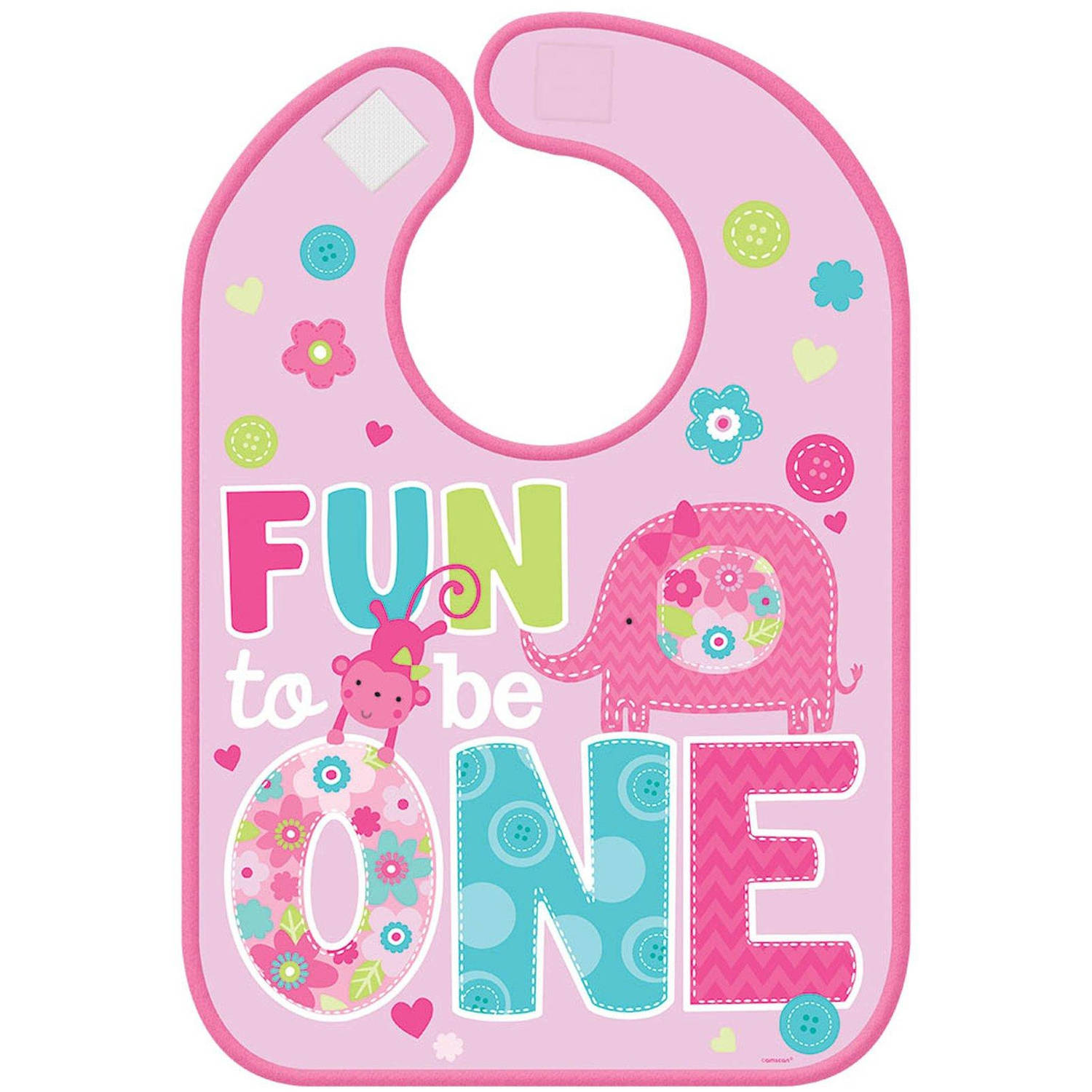 Fun at One Girl Vinyl Bib