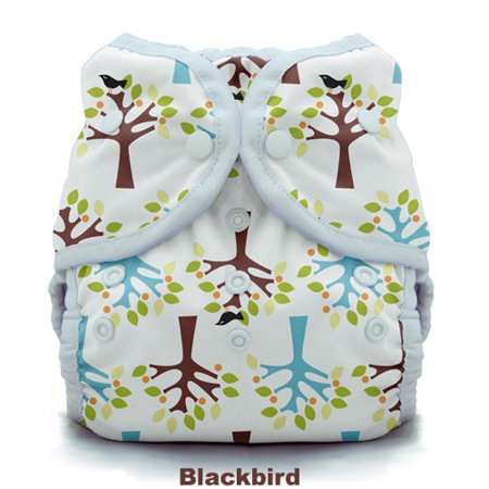 Thirsties Duo Wrap w/ Snaps - Size Two - Blackbird