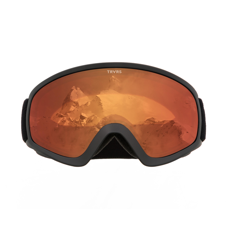Traverse Iris Youth Ski, Snowboard, and Snowmobile Goggles, Black & Ember