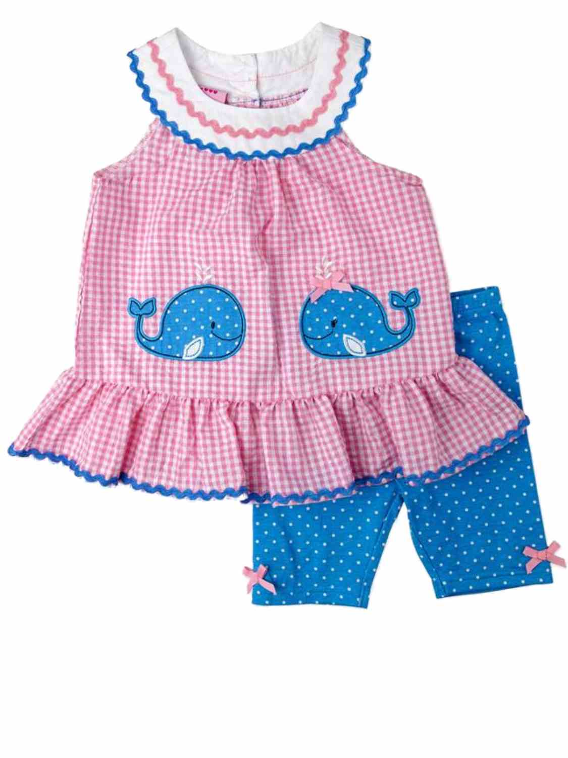 Pink Nannette Toddler /& Little Girls 2-pc Colorful Fish Top /& Pants Set