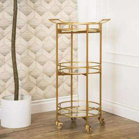 Harper Cylinder Carts (Ashton 3 Tier Cylinder Gold Bar Cart)