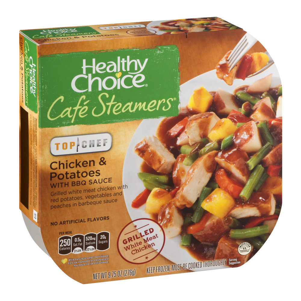 Healthy Choice Cafe Steamers Top Chef Chicken & Potatoes with BBQ Sauce, 9.75 oz