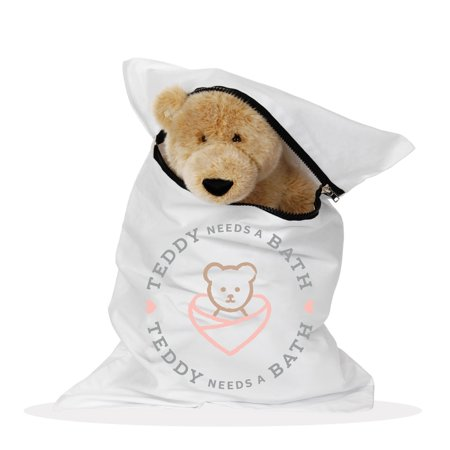 A Stuffed Animal (Teddy Needs a Bath | Washer & Dryer Laundry Bag for Stuffed Animals & Toys)