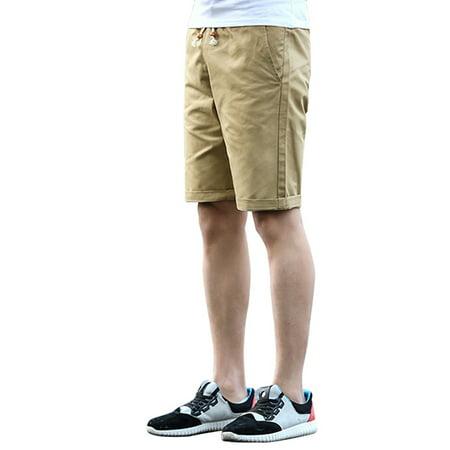 Customizable Classic Short (Summer Men's Fashion Classic Casual Cotton Drawstring Short Pants)