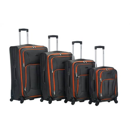 Rockland Impact 4pc Spinner Luggage Set - Charcoal