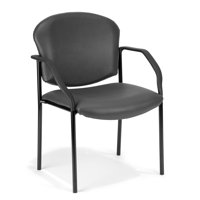 OFM Manor Series Guest and Reception Chair with Arms, Anti-Microbial/Anti-Bacterial Vinyl, in Teal (404-VAM-602)
