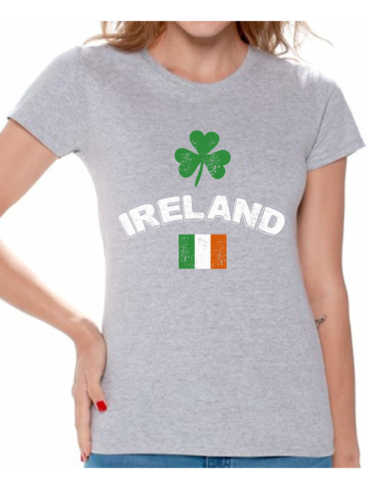Made In Ireland Flag Irish Pride St Patricks Day Eire Lucky Mens V-neck T-shirt