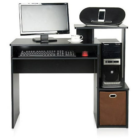 Furinno Econ Multipurpose Home Office Computer Writing Desk with Bin, Multiple