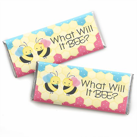 What Will It BEE? - Candy Bar Wrapper Gender Reveal Favors - Set of (Cat In The Hat Candy Bar Wrapper)