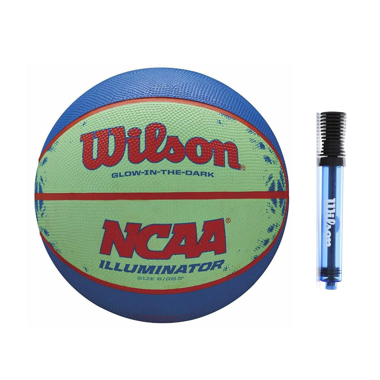 "Wilson NCAA Illuminator Glow-in-The-Dark Basketball (28.5"") and Inflation Pump"