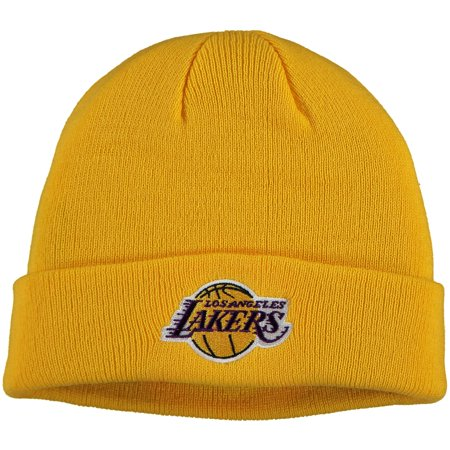 Men's Gold Los Angeles Lakers Mass Cuffed Knit Hat - OSFA Los Angeles Trolley