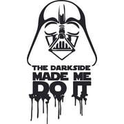 The Dark Side Made Star Wars Cartoon Character Wall Art Vinyl Sticker Design Decal Girls Boys Bedroom Nursery Kindergarten Fun Home Children Room Decor Sticker Wall Decoration Size (10x8 inch)