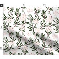 Floral Illustrations Home Decor Upholstery Fabric Printed by Spoonflower BTY
