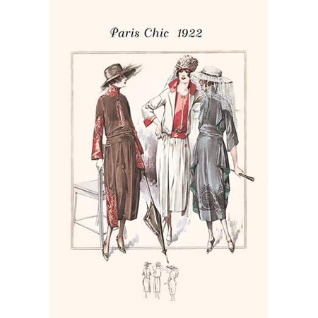 Page from a 1920s fashion catalog from France with the lastest in womens attire Poster Print by unknown - French Decor Catalog