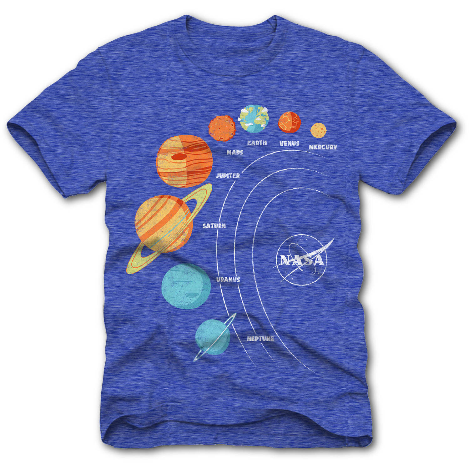 Planets Space Boys Short Sleeve Graphic Tee