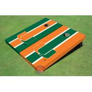 University Of Miami Alternating Long Stripe Cornhole Boards