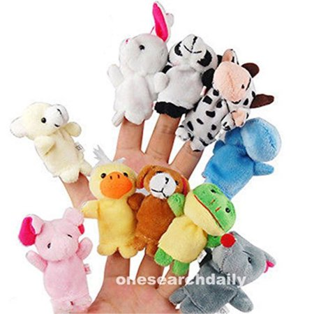 10 Pcs Family Finger Puppets Cloth Doll Baby Educational Hand Cartoon Animal Toy (Zombie Baby Puppet)
