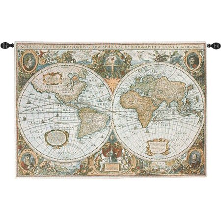 Old World Map Tapestry Wall Hanging 50 Inches By 35 Inches Walmart Com