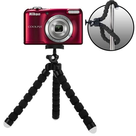 "Acuvar 6.5"" inch Bendable Tripod for Small Digital Cameras with eCostConnection Microfiber (Micro Tripod)"