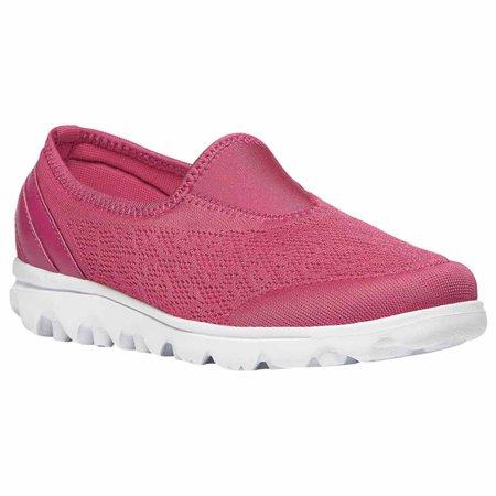 Propet TravelActiv Slip-On - Women's Flexible Comfort Shoe - Watermelon Red