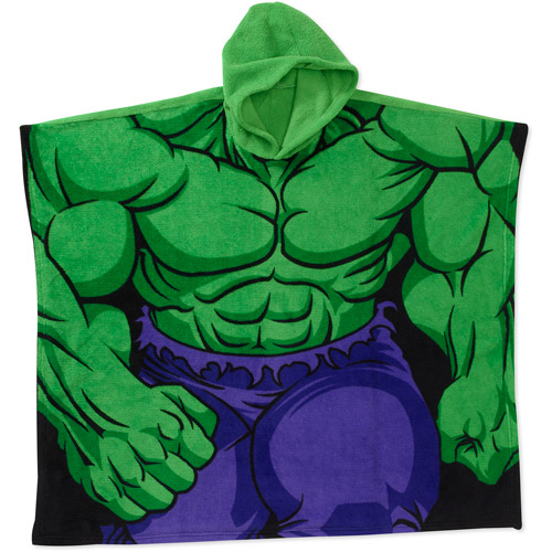 Marvel Boys' Hulk Hooded Poncho Blanket