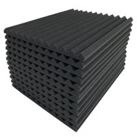 36 Pack Acoustic Foam Panel Wedge Studio Soundproofing Foam Wall Tiles 12X12X1""