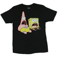 Spongebob Squarepants Mens T-Shirt -  Screaming Sitting Patrick & Bob Image (Small)