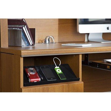 Bush Achieve L Shape Home Office Desk With Hutch In Warm Oak Image 1 Of