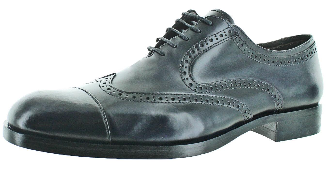 Donald J Pliner Zindel Men's Cap Toe Brogue Oxford Dress Shoes by