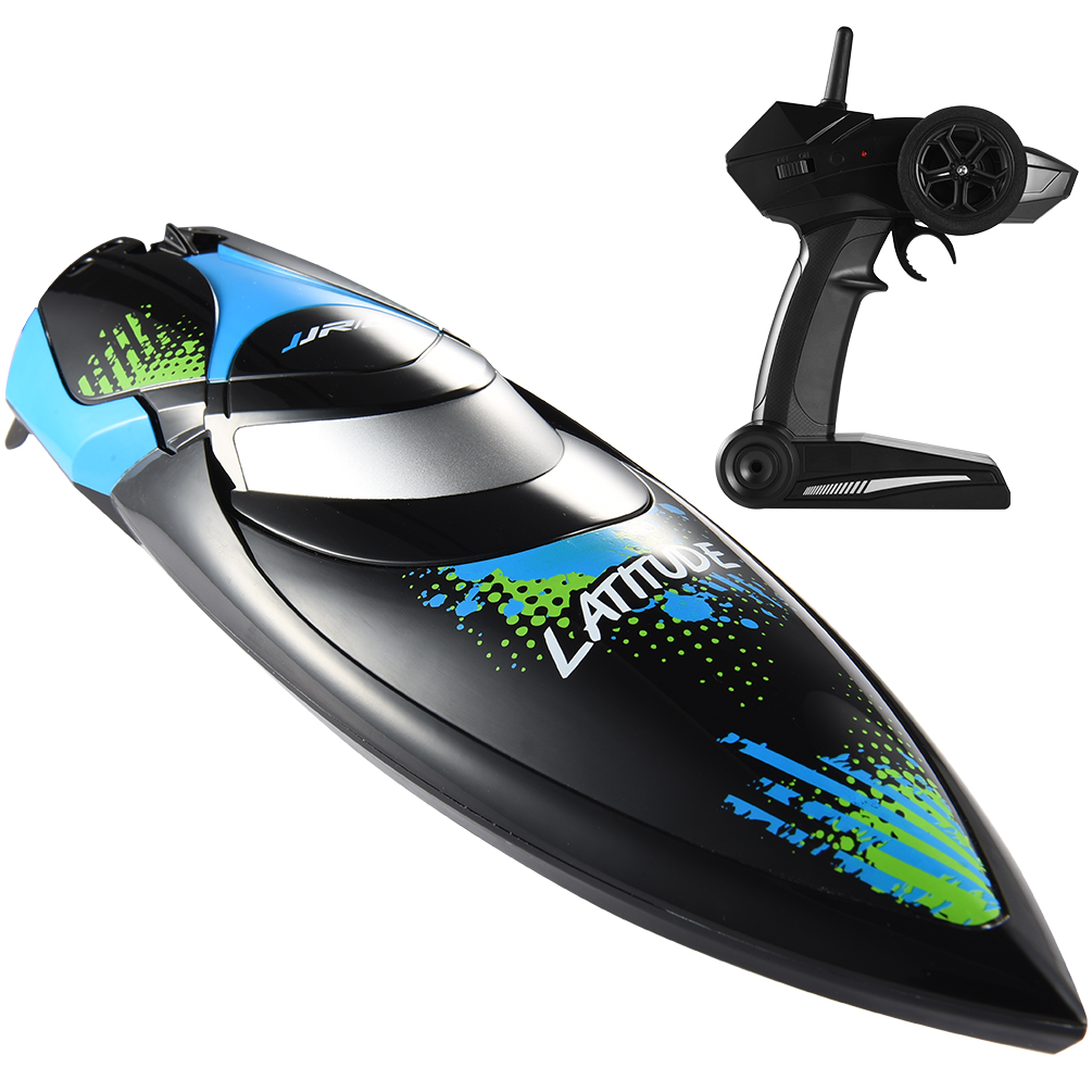 ALLCACA 2.4GHZ Remote Control Boat High-speed RC Racing Boats Waterproof Electric Ship with 180° Flip and Water Cooling System, Suitable for Pools and Lakes, Black